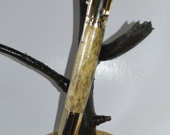 Pen Bolt Action 30 Caliber Caribou Antler Ballpoint Pen, Gift, Office, Father Gift Him