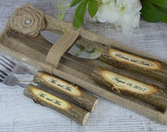 Wedding knife set,cake knife set,cake serving set,wedding cake server,wedding cake knife,rustic wedding,personalized server,wedding gift