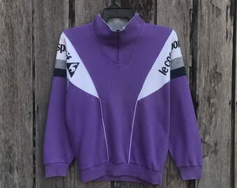 Rare!!! Le coq sportif spell out big logo Sweatshirt