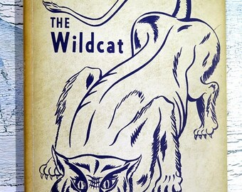 Summer Sale 1955 Wildcat Yearbook Annual of Byars-Hall High School Covington, Tennessee