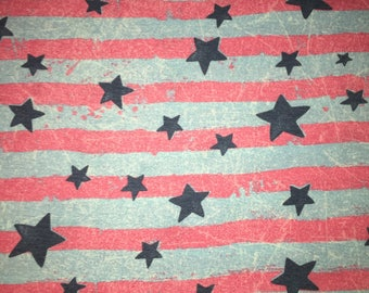 Cool Summer Stars and Stripes - Poly Rayon Spandex