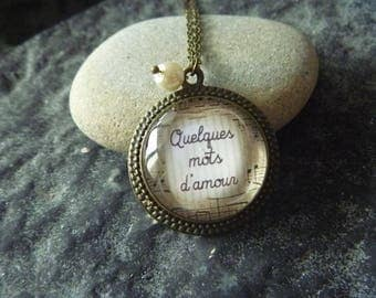 vintage Necklace: Locket a few words of love