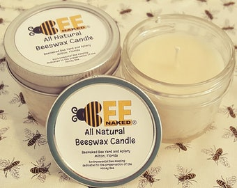 All Natural Beeswax Candle