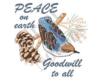 Peace On Earth - Machine Embroidery Design