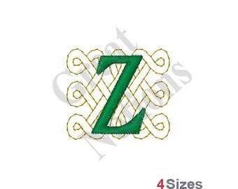 Celtic Font Z - Machine Embroidery Design