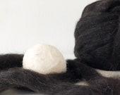 Alpaca Wool Dryer Balls    Set of 3    White Wool    Natural Laundry Supply