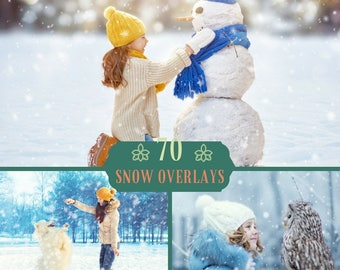 70 Snow Overlays, Photoshop Overlay, Blowing Snow, Winter Overlay, Christmas Overlays, Snow Texture, Blowing Snow Overlay, Digital Backdrop
