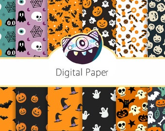 Halloween Digital Paper Pack Collection-Download and Print DG71