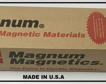 Magnum Magnetic Sheet 30 Mill Flexible Top Quality UV Resistant  White   for indoor or Outdoor use Magnet, 30 mill Cars ok  Free Shipping!