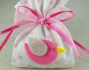 Set of 10 colored favor bags birth placeholder baptism
