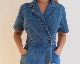 Vintage 90's Denim Playsuit