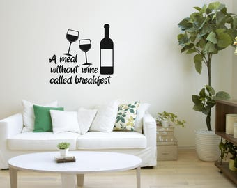 Wine Quote Decal Wall Art Sticker Alcohol