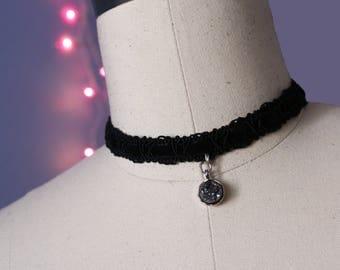 Black Velvet Gemstone Choker