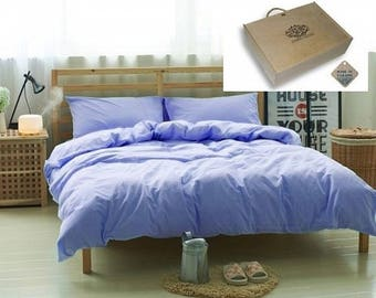 A complete set of bed linen is Amethyst, flax