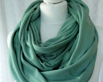 Chunky mint green infinity scarf, Circle scarf, Mint green scarf, Viscose scarf, Winter scarf, Statement scarf