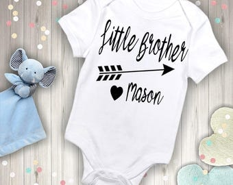 Personalized Little Brother with Name Outfit