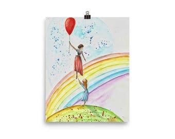 Lovely Goodbye Watercolor Illustration Poster. Home Decor. Memorial Gift