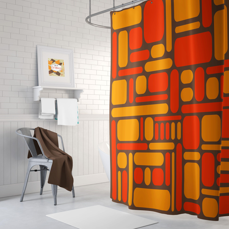 Retro Shower Curtain, 70u0027s Shower Curtain, Cool Shower Curtain, Mid Century  Shower Curtain