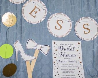Elegant & artistic bridal shower kit