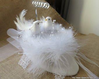 ring bearer nest white love sweetness, revisited wedding ring pillow
