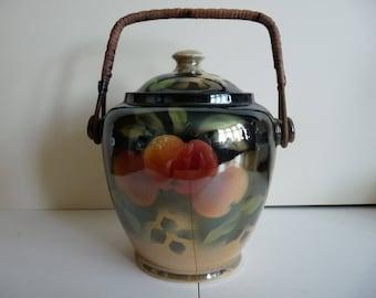 Lustreware biscuit barrel