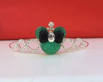 Minnie Mouse Teal Birthday Tiara Disney Tiara Crown bIRTHDAY