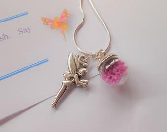 Fairy Wish Necklace, Fairy Pendant Necklace, Girl's Necklace, Faerie Necklace, Fairy Dust Charm, Girl's Charm Necklace, Fairy Charm