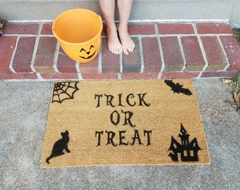 Trick Or Treat Halloween Front Porch Doormat