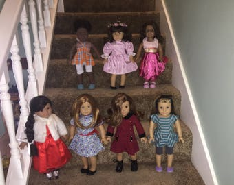 Huge lot American Girl dolls Addy custom Samantha,Josefina,Emily,Rebecca,Mckenna