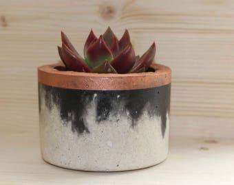 Copper Trim B & W Pot