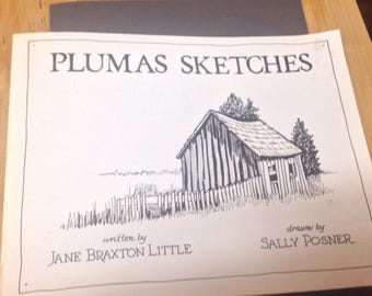 Plumas sketches SC Jane Little,Drawings By Sally Posner, 1983