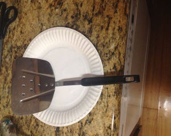 Royal Sharpcutter, wide Spatula flipper turner, Stainless , USA w/ Black Handle