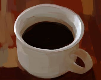 "Coffee Mug Painting- DOWNLOAD 7""x7"""