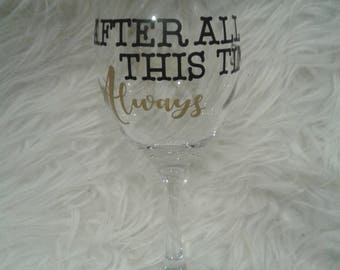 Harry potter glass, Always