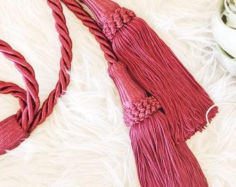 Vintage Large Red Tassels / Curtain Tie Backs