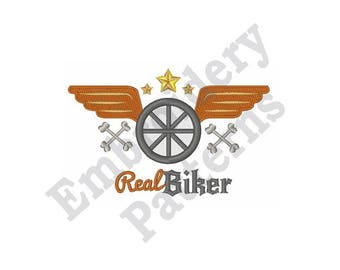 Real Biker - Machine Embroidery Design