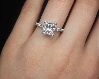 Classic and timeless 2.62carat princess cut diamond ring