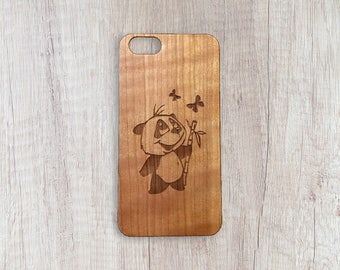 He Eat, Shoots & Leaves - Personalised Wooden Phone Case