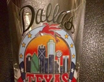 Vintage Dallas Texas shot glass