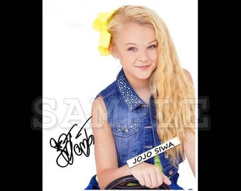 JoJo Siwa signed 8x10 Autograph RP - Great Gift Idea! - Ready to Frame and Display photo picture