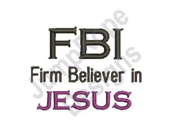 Fbi Jesus - Machine Embroidery Design