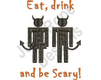 Be Scary - Machine Embroidery Design