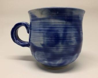 jewelry blue,elegant,unique,handmade ceramic mug,pottery mug,sea,blue, coffee or tea mug, handmade gift,kitchen, dining