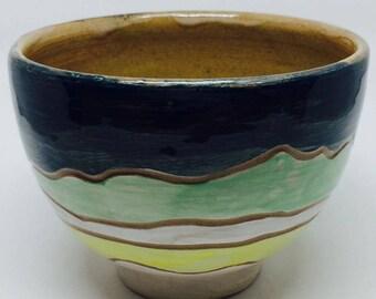 Ceramic Fruit Bowl, mountain Bowl, Salad Bowl, Stoneware Bowl, Handmade Bowl, Housewarming Gift, Wedding Gift