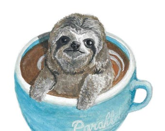 Cuppa', Sloth With Food VII