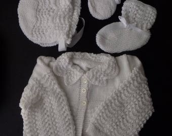 Girls Crochet Clothing Set 3 Piece