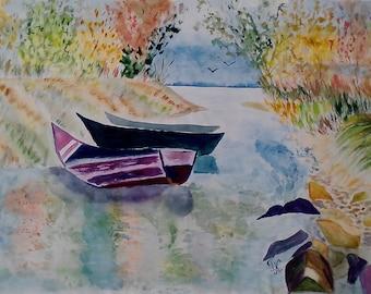 """Life at the big river"""" 61*43 cm GIFT IDEA"""