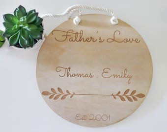 Custom Father's Love Wooden Plaque/ Laser Cut