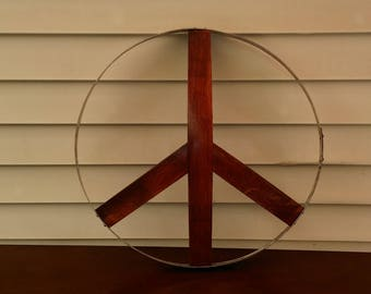 Barrel Stave Peace Sign