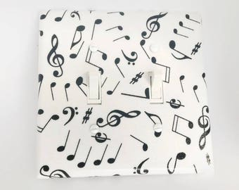 Music Switch Plate, Light Switch Cover, Switch Plate, Outlet Cover, White Black, Music Switchplates, Light Switch Covers,Light Cover,Bedroom